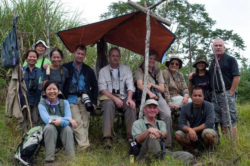 Mt. Kitanglad, January 2009<br /> <br /> The birding group at the Philippine Eagle lookout point.