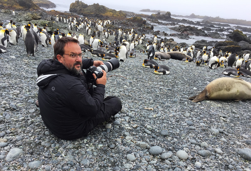 Wildlife photographer Rafael Armada on Macquarie island