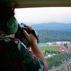 Me in Heli over RHS in 2006. Photo by Sean Williams