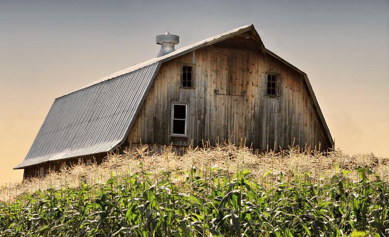 Hip roof barn, Waitsfield,Vt.