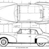 Lincoln 1941 Continental coupe drawings