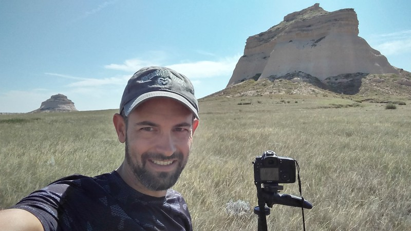Shooting the solar eclipse at Pawnee Buttes in northeastern Colorado, 2017.