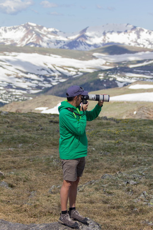 Danny in alpine tundra, summer 2017. Photo by R. Warrier.