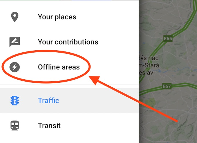 google maps offline areas