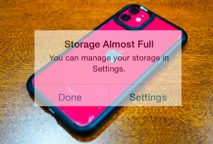 How To Handle Photos On Your Phone When It's Out Of Storage
