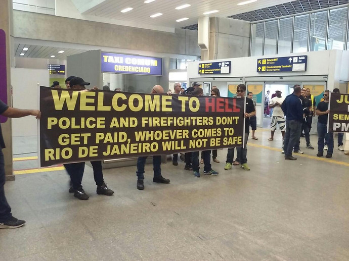 rio airport olympics message