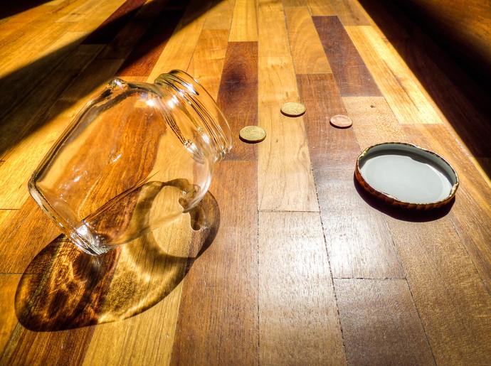 empty coin jar