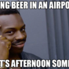 drinking airport
