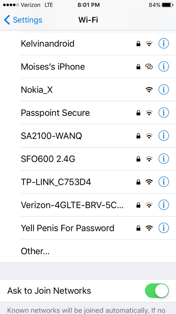 yell penis for password