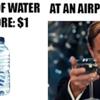 water bottle meme