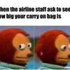 airline carry on meme