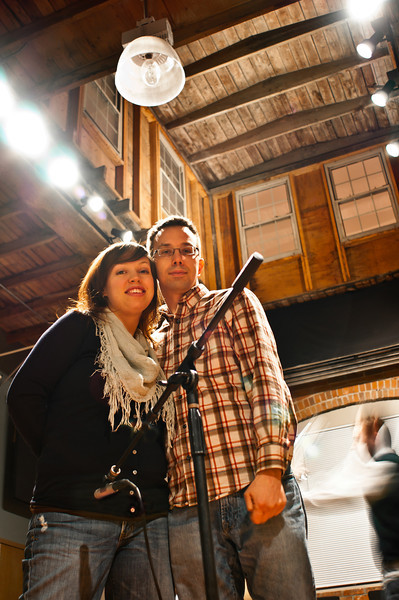 Rebecca & Lee, while shooting at<br /> Elevation Recording Studio, Cleveland