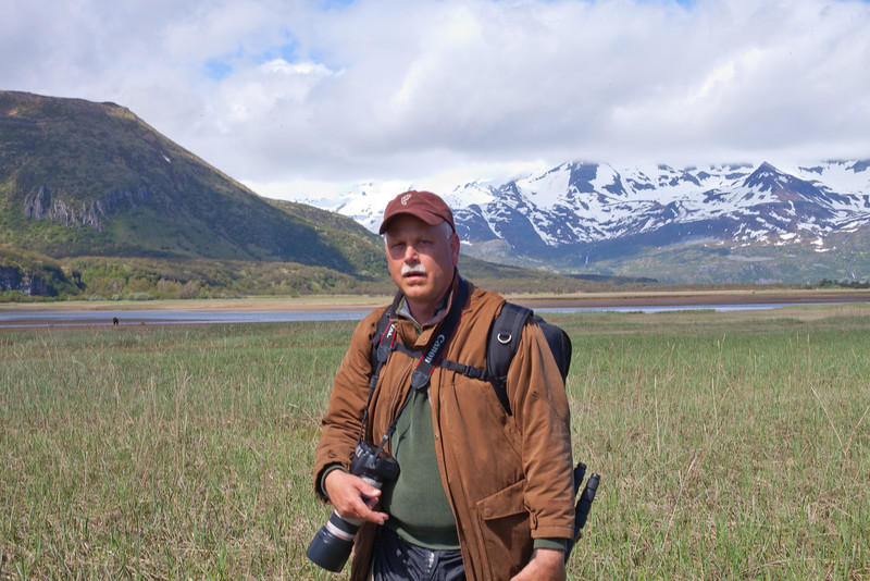 Gary Gee in Katmai National Park, Alaska with Brown Coastal Bears in June 2012