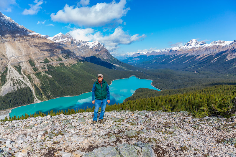 Top of the Mountain -  Peyto Lake, Alberta, Canada - September 2018