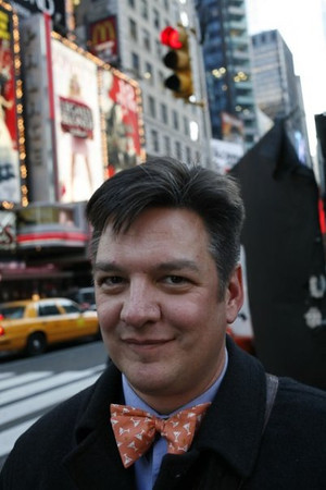 Rich Copley photographed in Times Square, New York City, December 2006 by Aaron Lee Fineman.