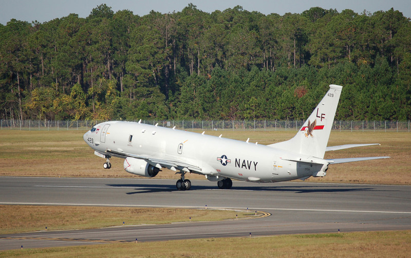 Photo by Clark Pierce <br /> With VP-16 Commanding Officer Cmdr. Bill Pennington Jr. at the controls, P-8A Poseidon No. 429 takes off from NAS Jacksonville, Fla. Nov. 29. It represents the squadron's historic first operational deployment of the Poseidon within the Navy's maritime patrol and reconnaissance community.