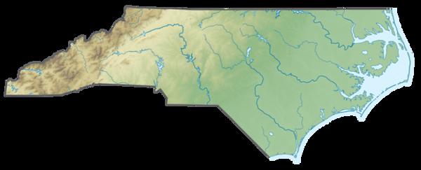 USA_North_Carolina_relief_map_cut