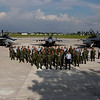 Australian and Malaysian Aircrew and staff for Exercise Elangaroo and Bersama Lima 2011.<br /> Mid Caption: This year marks the 40th Anniversary of successful co-operation between the founding members of the Five Power Defence Arrangement (FPDA); Malaysia, New Zealand, Singapore, the United Kingdom and Australia. As part of Exercise Bersama Lima 11, F/A -18 Hornets from No. 75 Squadron (75 SQN) have deployed to practise air combat tactics with participating nations, and will join air, ground and naval forces of the FPDA training together in various locations on the Malaysian Peninsula and in the South China Sea.<br />  <br /> Exercise Bersama Lima promotes a shared understanding of procedures for air and maritime operations, the protection of the marine environment and disaster relief management, and is important training for Australian Air Force personnel to hone key skills, work as a combined force and build regional relationships with FPDA nations.