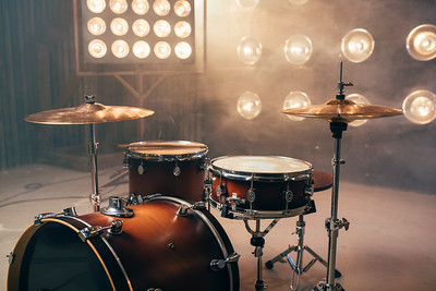 Drum kit, percussion instrument, beat set, nobody