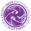 ScottNeer-Logo-Purple-White-DarkBG-Round