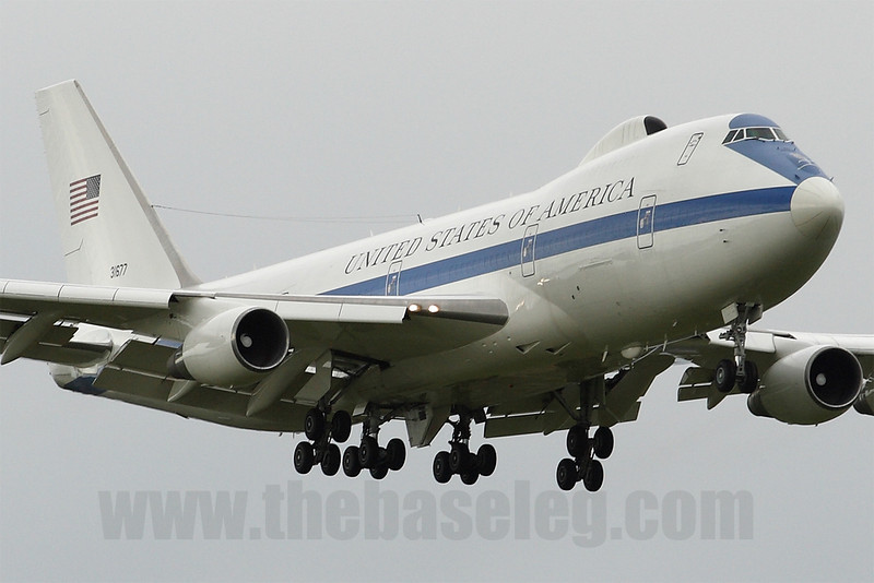 US Air Force Boeing E-4B Airborne Command Post 73-1677 carrying US Defence Secretary Robert Gates lands at Melbourne, Australia for the AUSMIN summit between US and Australian leaders.