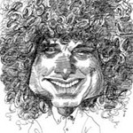David Levine caricature of Steven Pinker