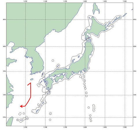 PLAAF_tu154md_intercepted_route