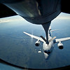An Australian Air Force E-737 Wedgetail, Airborne Warning and Control System, moves into position to receive fuel from a U.S. Air Force KC-135 Stratotanker from the 349th Air Refueling Squadron, McConnell AFB, Kan., over the Joint Pacific Range Complex near Eielson AFB, Alaska, June 20, 2012, during Red Flag-Alaska 12-2. Red Flag-Alaska is a Pacific Air Forces-sponsored, joint/coalition, tactical air combat employment exercise which corresponds to the operational capability of participating units. The entire exercise takes place in the Joint Pacific Range Complex over Alaska as well as a portion of Western Canada for a total airspace of more than 67,000 square miles.