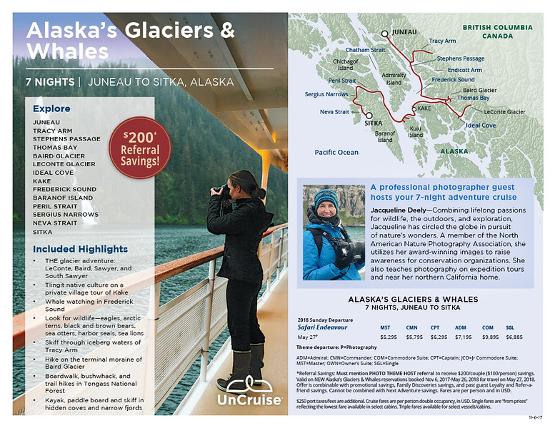 Alaska's Glaciers and Whales Photography Theme Cruise