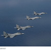 MiG-29s of the Tentara Udara Diraja Malaysia (Royal Malaysian Air Force) fly in formation over the South China Sea at Exercise Bersama Shield 2011. (Photo Credit: Commonwealth of Australia; Royal Australian Air Force Photo)