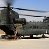 Sergeant Andrew Reid of Rotary Wing Group 7 prepares an Australian CH-47D Chinook for take off at Kandahar Airfield, Afghanistan.<br /> <br /> Mid Caption: The Australian Defence Force's CH-47D 'Chinook' helicopters have returned to duty in Southern Afghanistan providing medium lift transport capability to Australian and International Security Assistance Force units. The helicopters will be operated by the men and women of Rotary Wing Group 7 (RWG 7) who are embedded with the United States 25th Combat Aviation Brigade, known as Task Force Wings. RWG 7 is made up of approximately 60 personnel from the Townsville-based 5th Aviation Regiment and from across the 16th Aviation Regiment.<br /> <br /> Photo by Sergeant Mick Davis<br /> 1st Joint Public Affairs Unit