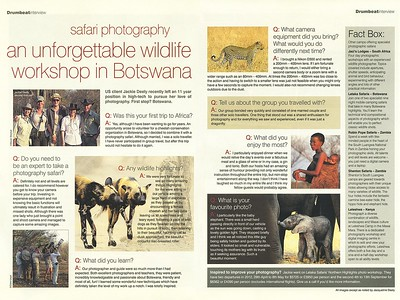 Aardvark Safaris Drumbeat Newsletter Interview