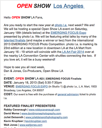 Open Show LA #23 | Emerging Focus Finalists