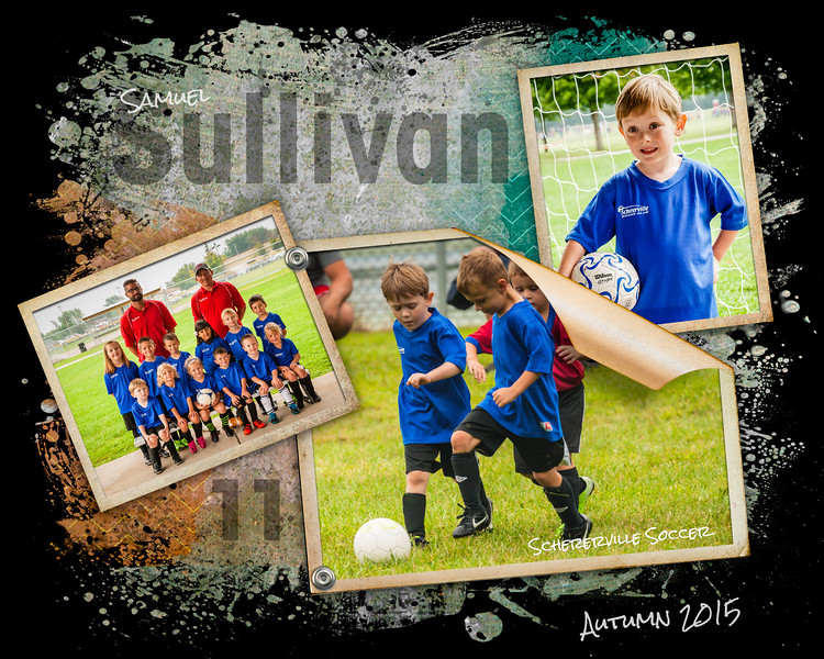 Samuel's Soccer Collage - Autumn 2015