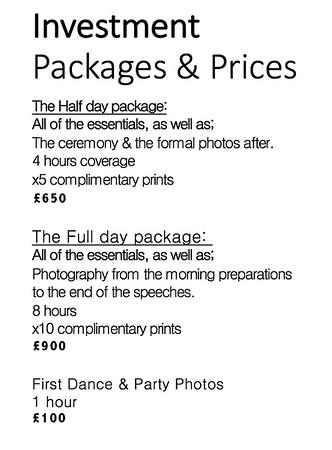 New prices