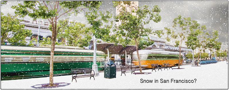 The day it snowed in San Francisco.
