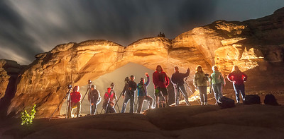 Group Shot at Broken Arch