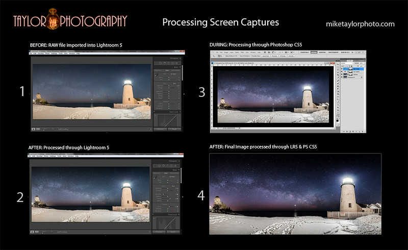 Galactic Beacon - BEFORE - DURING - AFTER PROCESSING
