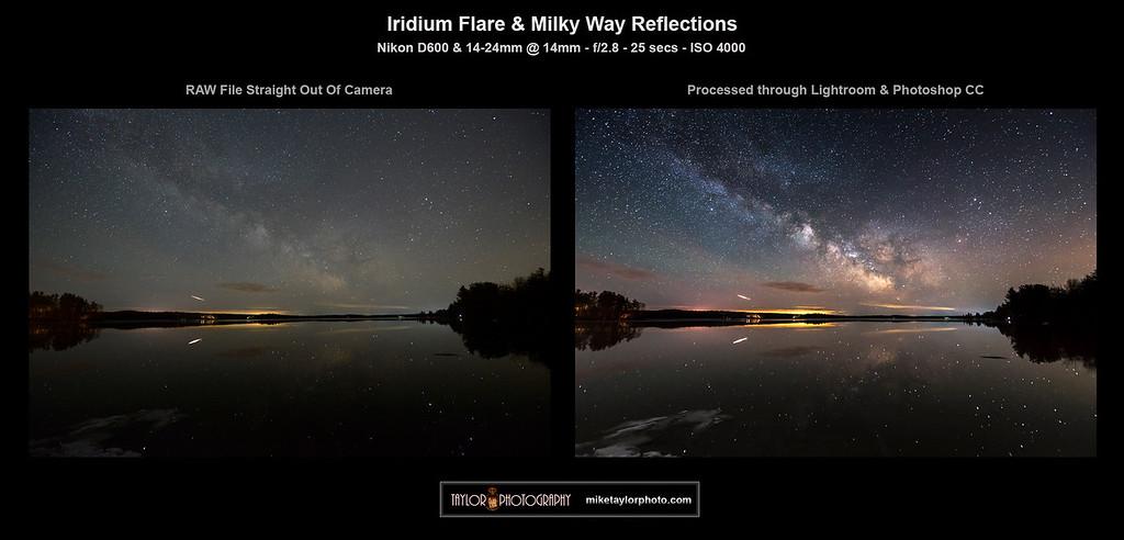 Iridium Flare & MW Reflections BTS