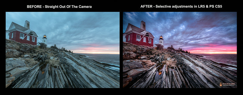 Pemaquid Dawn - BEFORE & AFTER