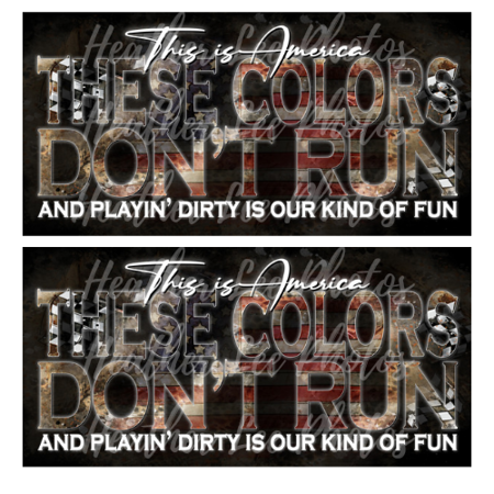 This is America These Colors Don't Run Play Dirty © Heather Lee Kniess