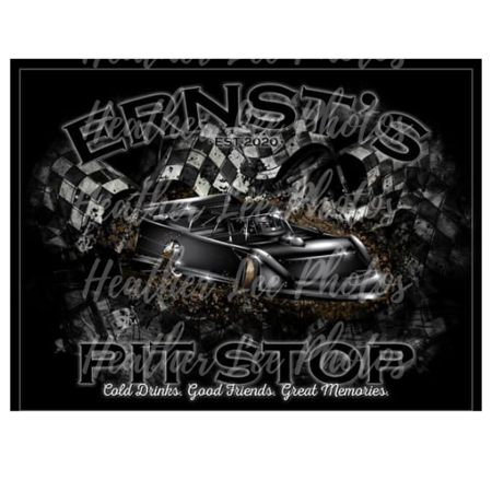 Custom Pit Stop Sign
