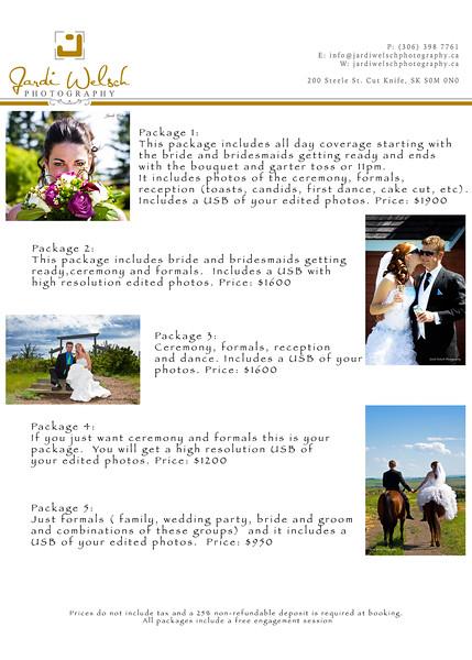 Wedding Prices 2016