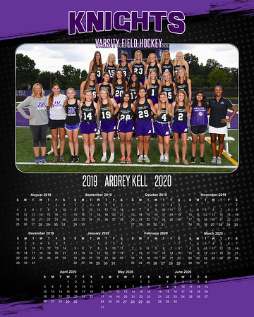 8x10 Calendar Sample