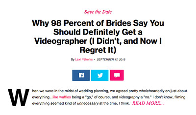 98 Percent Regret Wedding Vid