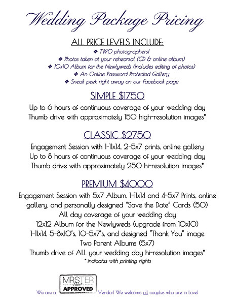 2016ForWebsiteWeddingPackagePricing