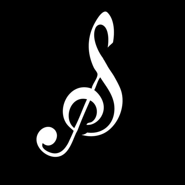 Treble Clef Logo v2 0 - White Logo