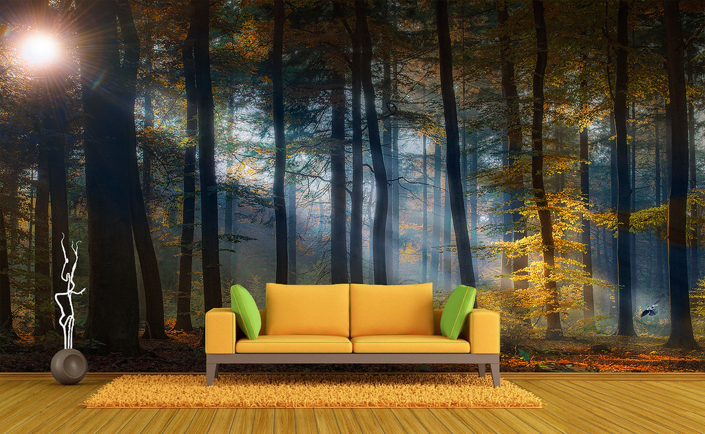 sofa-green-wall-photo-oxovisuals-shop-forest-wallpaper