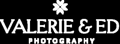 Valerie + Ed Logo Inverse white