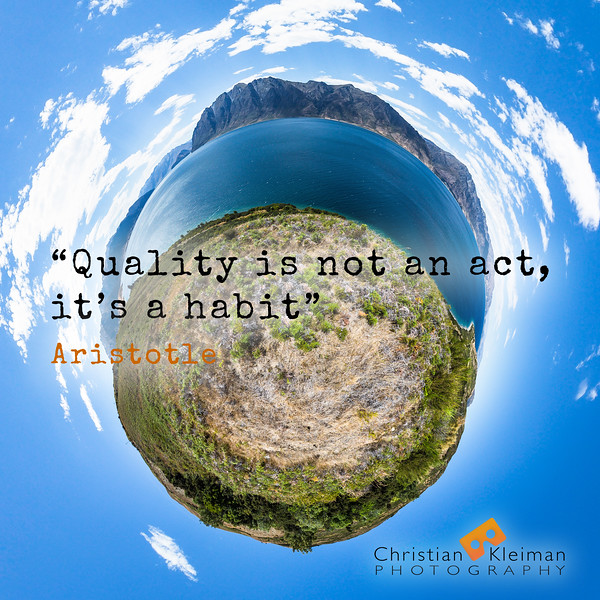 Inspirational Tiny Planet + Quote